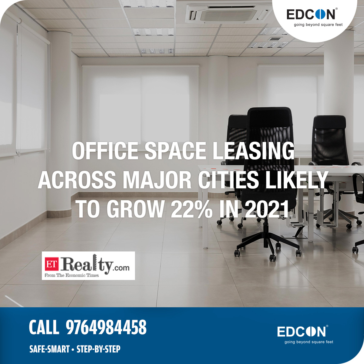 Office space leasing across India's major cities likely to grow 22% in 2021